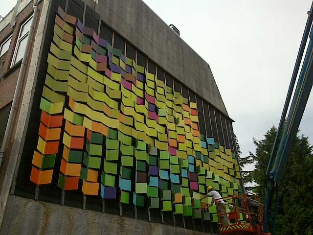 Vierkante regenboog impressie