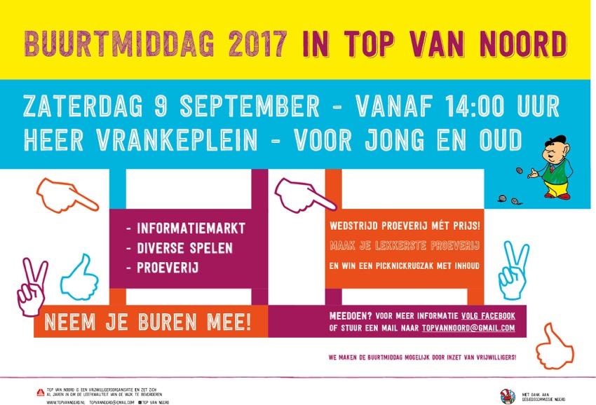Buurtmiddag 2017 IN TOP VAN NOORD